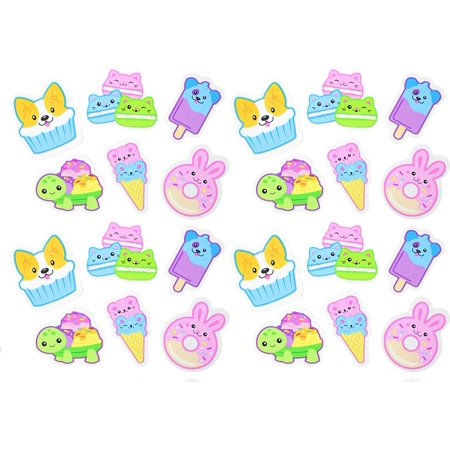24 Large Scented Animal Foods Erasers - Novelty and Functional Adorable Eraser Novelty Treasure Prize, School Classroom Supply, Math Counters - Sorting - Party Favor (2 Dozen)](Food Erasers At Target)