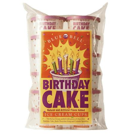 Blue Bell Birthday Cake Ice Cream Walmart