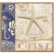 MBI Beach Coast Post Bound Scrapbook, 12 by 12-Inch Multi-Colored