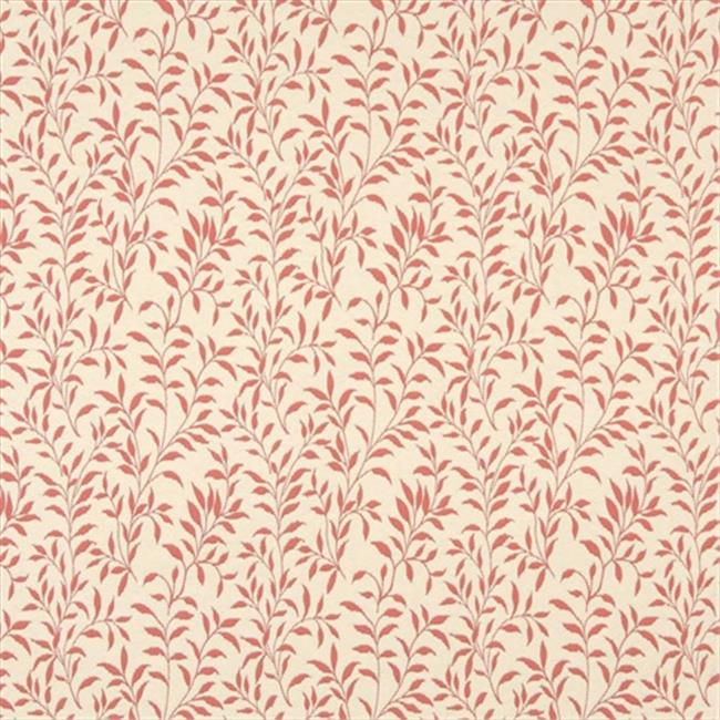 Designer Fabrics F413 54 in. Wide Coral Pink And Beige Floral Matelasse Reversible Upholstery Fabric