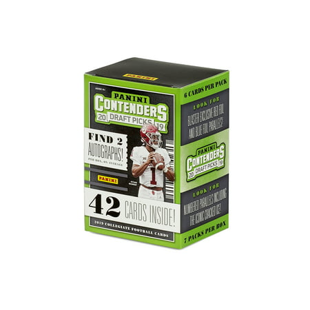 2019 Panini Contenders College Football Draft Picks Blaster Box- 42 Trading Cards | 2 Autographs per box | Blaster Exclusive Foil Parallels 1999 Victory Autographed Card