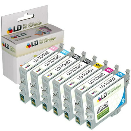 Epson Remanufactured T048 Set of 7 Ink Carts.: 2 Black & 1 Cyan, Magenta, Yellow, Light Cyan, Light Magenta