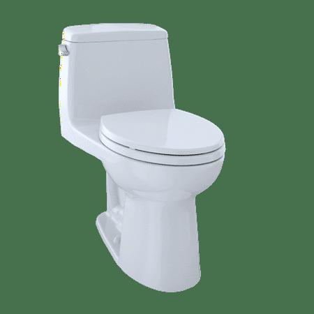 Toto Ultimate One Piece (TOTO® Ultimate® One-Piece Elongated 1.6 GPF Toilet, Cotton White - MS854114#01)