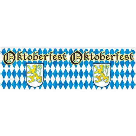 Metallic Oktoberfest Fringe 4ft. Banner (Each) - Party Supplies