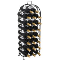ZENY Arched Metal Wine Rack Wine Holds 23 Bottles Storage Display Stand  No Assembly Required