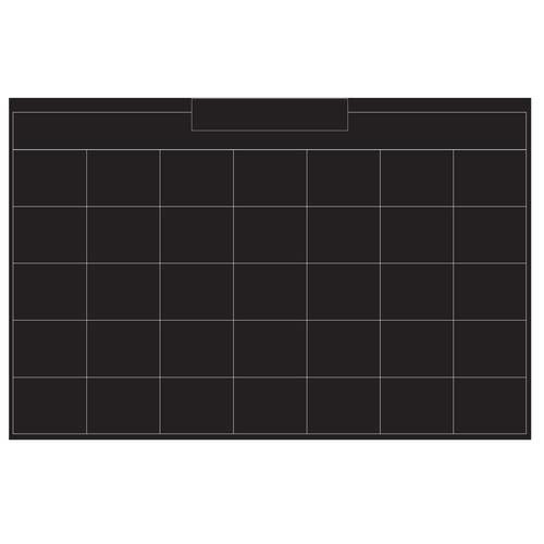 """Wallies Peel & Stick Monthly Chalk Calendar, 38"""" x 25"""""""