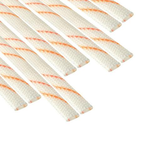 Fiberglass Sleeve 4mm I.D. PVC Insulation Tube 1500V 125C Wrap 2.95ft 10Pcs