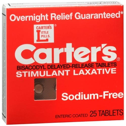 Carter's Laxative Tablets 25 Tablets (Pack of 2)