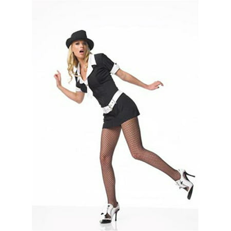 Adult Sexy Gangster Mole Costume Leg Avenue 83079 - Gangster Halloween Costumes For Women