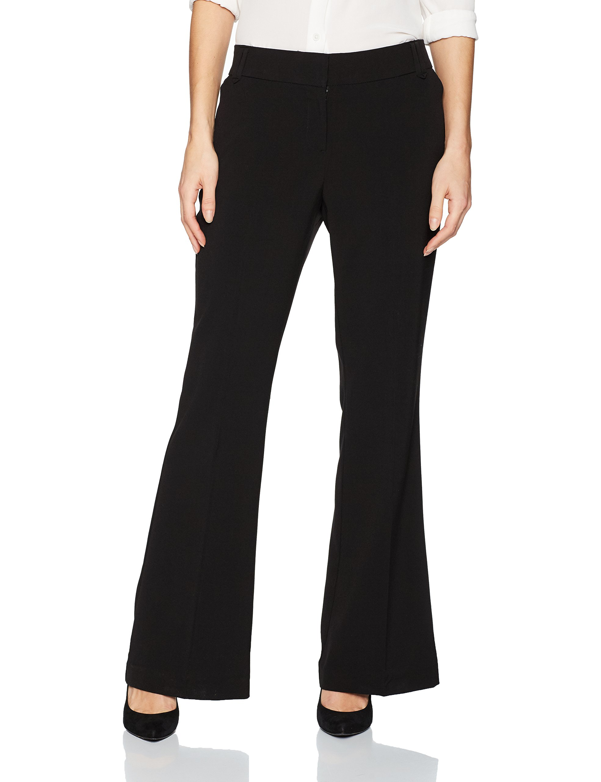 d30ecfe008 Briggs NEW Black Women s Size 14X31 Bootcut Solid Dress Pants Stretch -  Walmart.com
