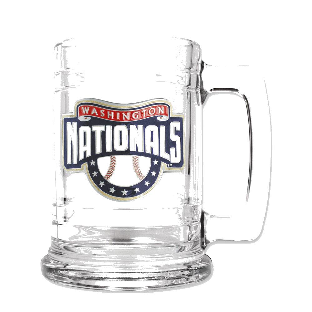 Washington Nationals 15oz Glass Tankard - Etching Personalized Gift Item