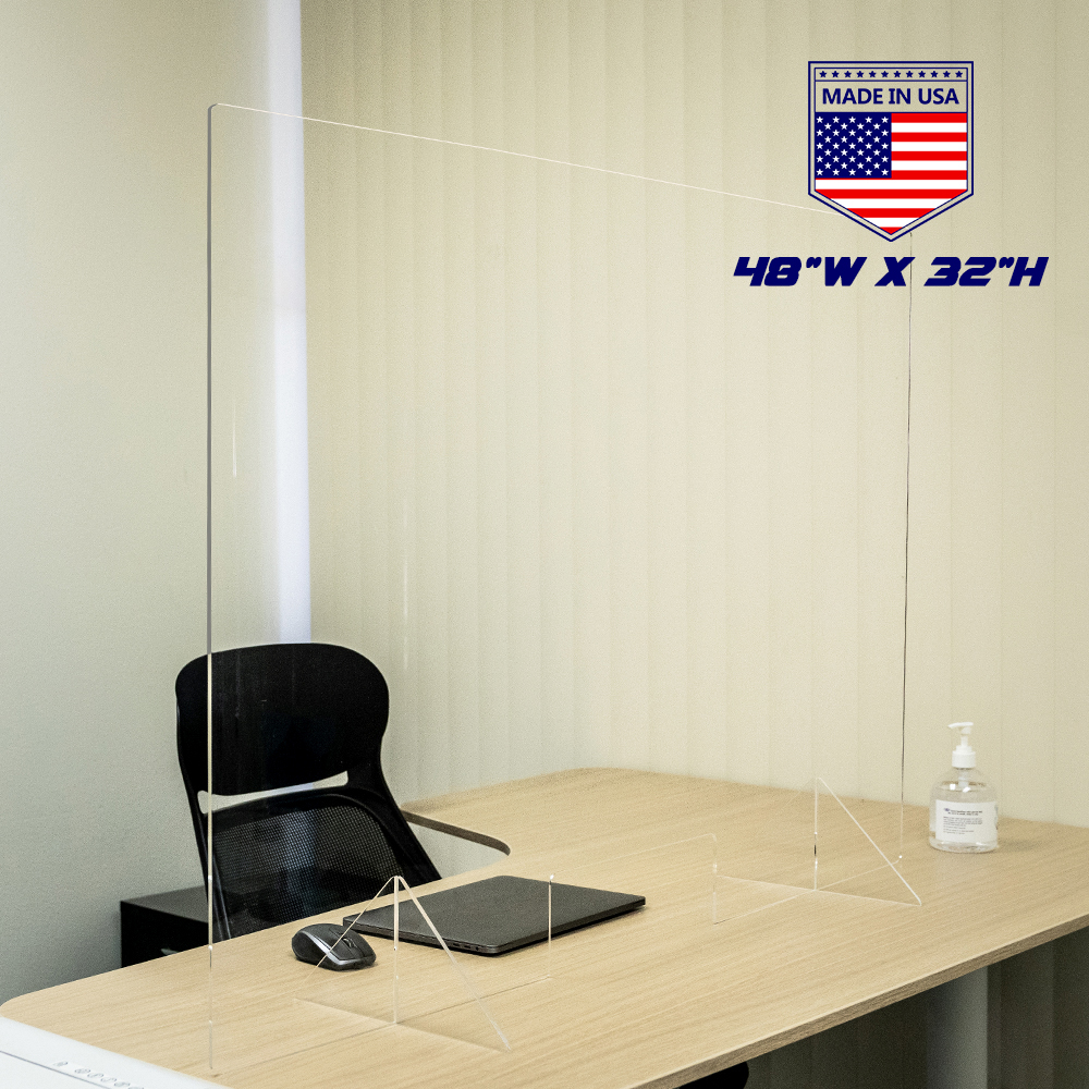 Sneeze Guard Perspex Sheet Acrylic Cough Office Desk Workplace Safety Dividers