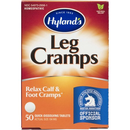 Hyland's Leg Cramps Tablets, Natural Relief of Calf, Leg and Foot Cramp, 50