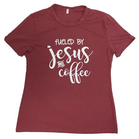 Women's Christian Fueled By Jesus And Coffee Short Sleeve