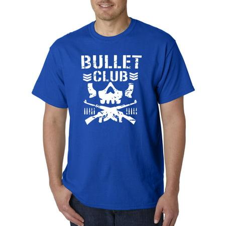786 - Unisex T-Shirt Bullet Club Skull Soldier Japan Pro Wrestling 3XL Royal Blue