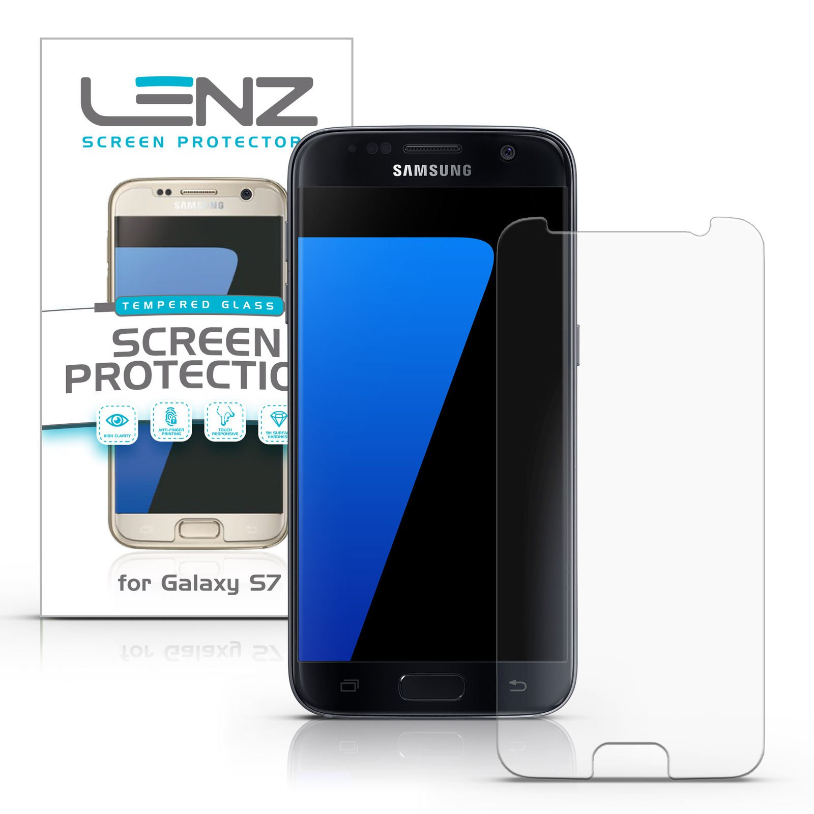 Lenz Tempered Glass Screen Protector for Samsung Galaxy S7 [1-Pack]