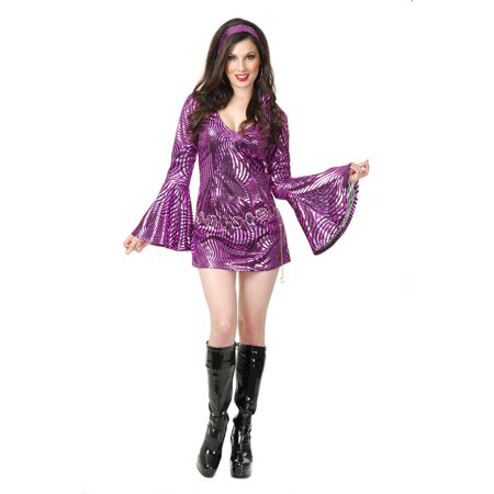 Psychedelic Disco (Curvy Womens Disco Diva Psychedelic Swirl Halloween Costume)