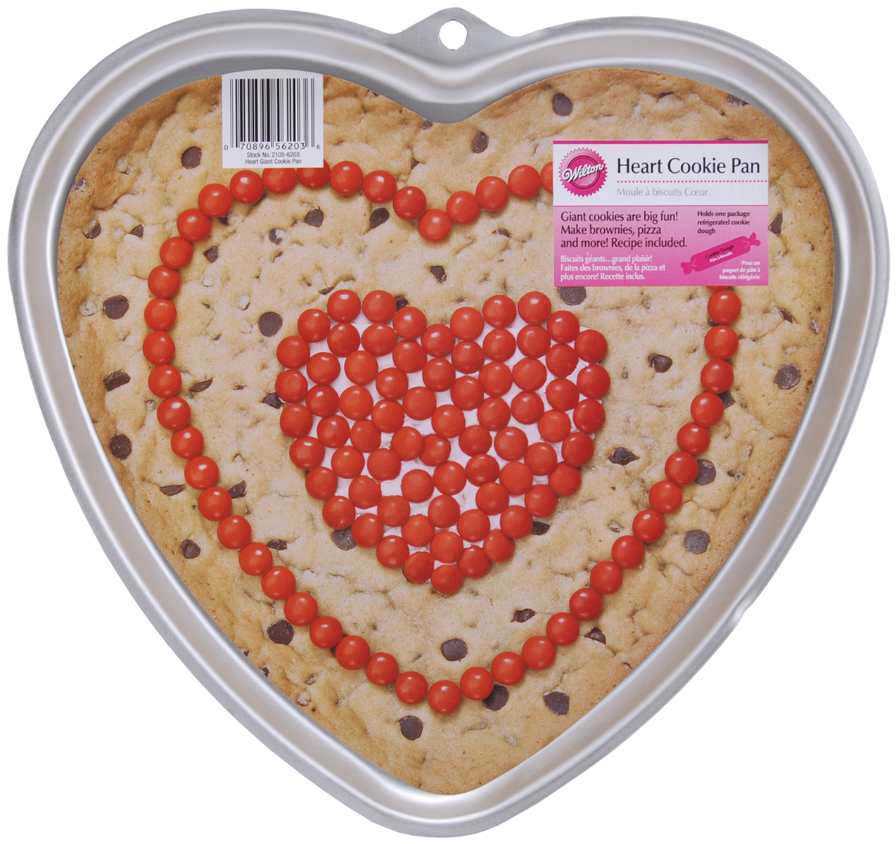 Wilton Heart Giant Cookie Pan Multi-Colored