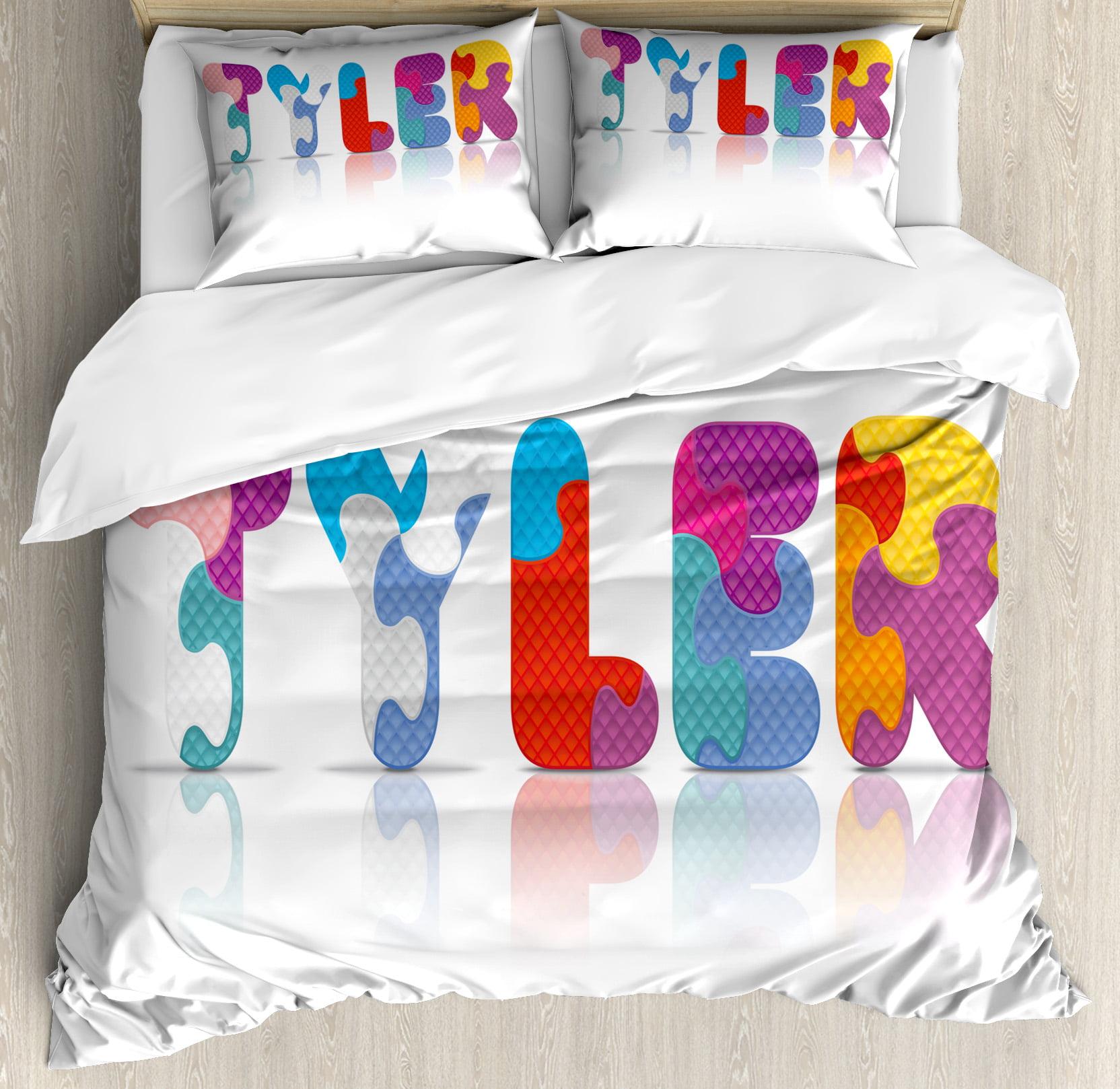 Tyler King Size Duvet Cover Set, Composition of Kindergarten Themed Colorful Letter Arrangement Newborn... by Kozmos