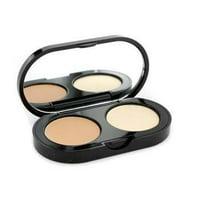 bobbi brown new creamy concealer kit - warm natural creamy concealer + pale yellow sheer finish pressed powder - 3.1g/1.1oz
