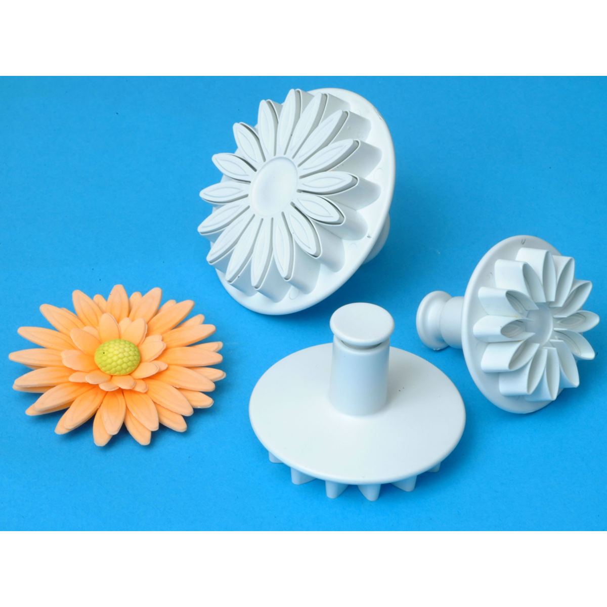 Plunger Cutter Set 3 Pieces-Veined Sunflower/Daisy/Gerbera - Walmart.com