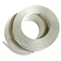 InstaTrim 1/2 In Wide, White, Flexible Trim Molding 10 Ft 2-pk
