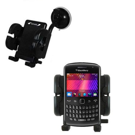 Gomadic Brand Flexible Car Auto Windshield Holder Mount designed for the Blackberry Curve 9360 - Gooseneck Suction Cup Style Cradle