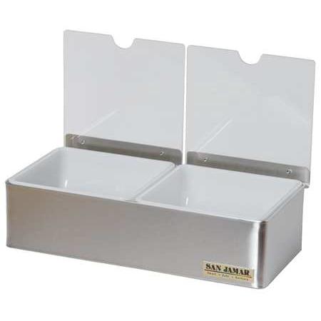 SAN JAMAR B4122INL Condiment Tray, (2) 1 Qt Insert