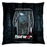 Friday The 13Th Poster Throw Pillow White 26X26