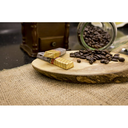 Framed Art for Your Wall Cup Seed Coffee Seeds Coffee Grinders Light Coffee 10x13 Frame ()