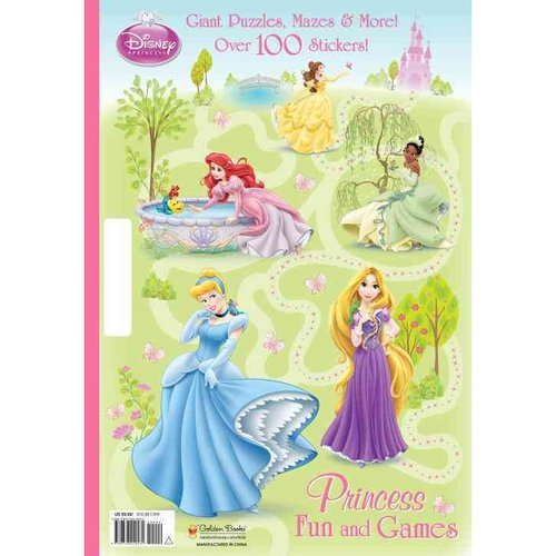 Princess Fun and Games: Giant Puzzles, Mazes & More!