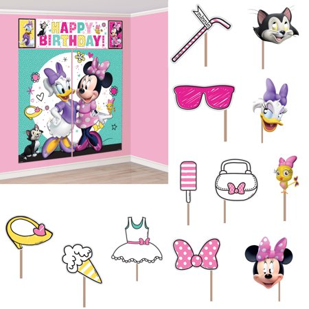 Minnie Mouse Helpers Scene Setter Wall Decoration With Photo Booth Props
