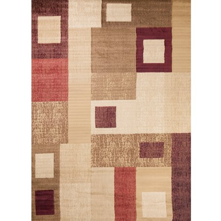 Concord Global Trading Soho Collection Rectangles Area Rug