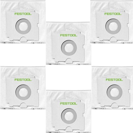 Festool Selfclean Filter Bag for Cleantec CT 26 Dust Extractor (6x -