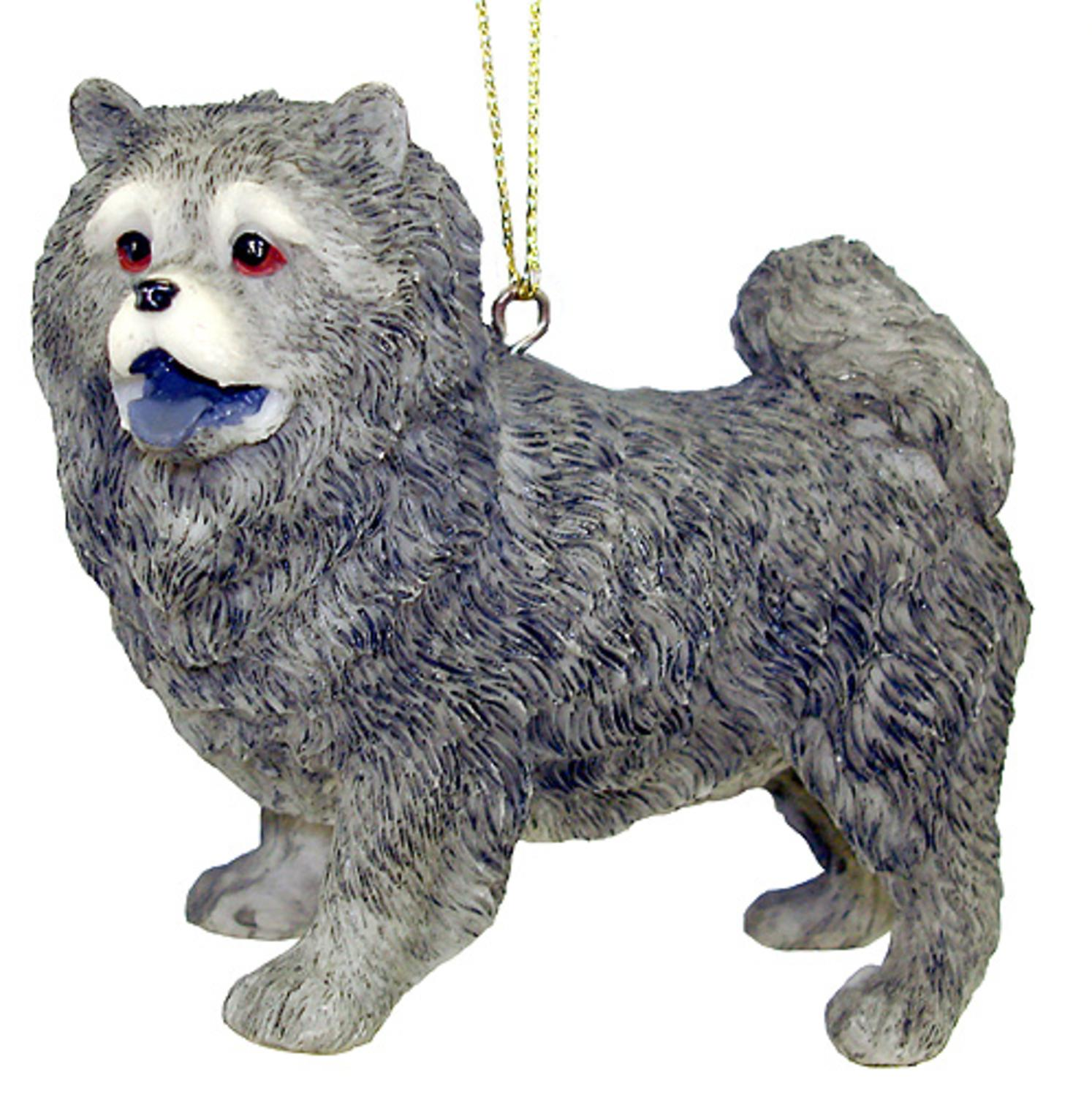 "3"" Gray Chow Chow Dog Canine Christmas Ornament #40069"