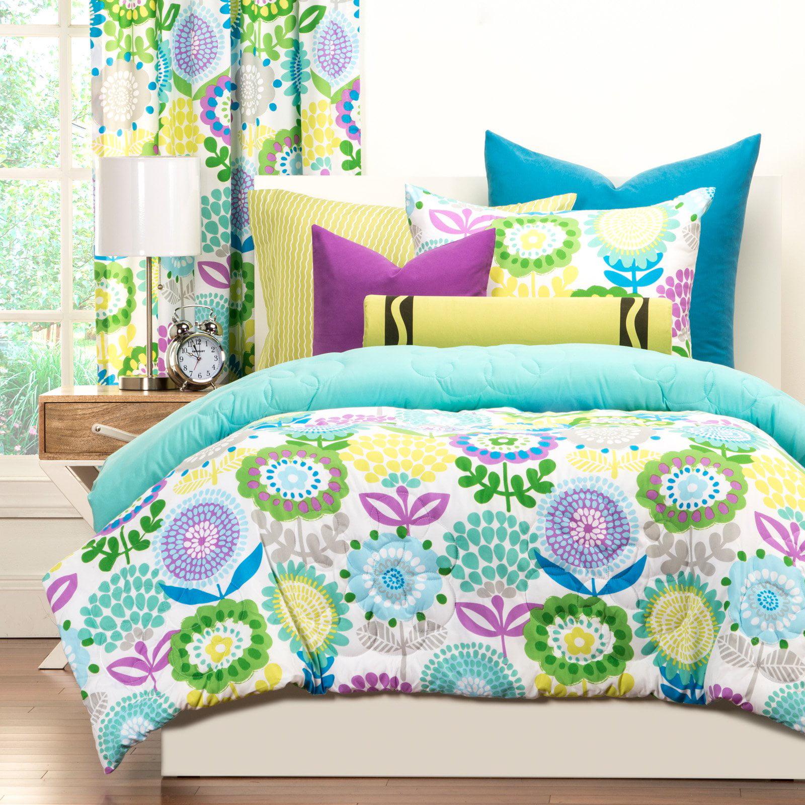 Crayola Pointillist PansyTwin Comforter Set