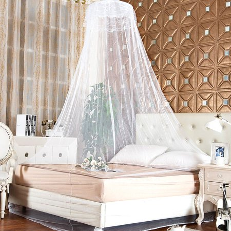 Bedroom Lace Mosquito Netting Mesh Canopy Princess Round Dome Bedding Net