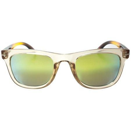 Large Aviator Sunglasses Gold Silver Frame Ocean Blue Dark ...