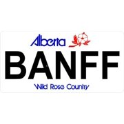 Alberta BANFF Photo License Plate Free Personalization on this plate