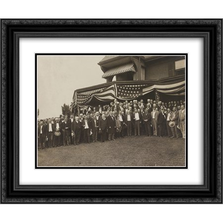 President Roosevelt, members of the Notification Committee, and guests, Sagamore Hill, Oyster Bay, N.Y. 24x16 Double Matted Black Ornate Framed Art Print (Oyster Bay Halloween Festival)