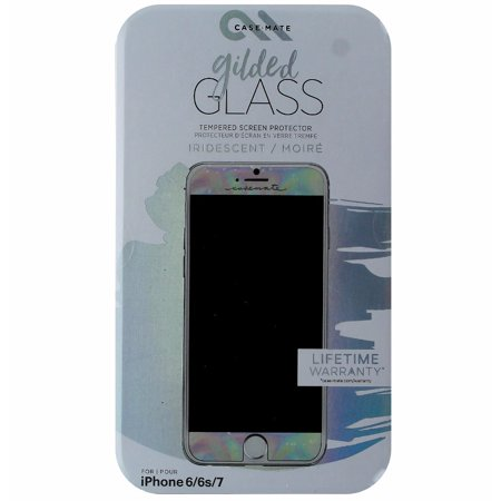 info for 3f59e f4136 Case-Mate Gilded Tempered Glass Screen Protector for iPhone 7 6s 6 -  Iridescent