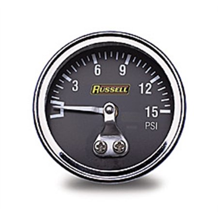 Russell Performance 15 psi fuel pressure gauge (Non - Russell Fuel Block