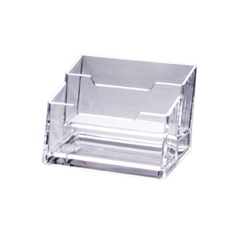 Famure Card case Acrylic Business Card Holder Stand Clear Desktop  Countertop Office Organizer Index Filling Display for Desk pcs 200/20/20/20  Pockets   ...