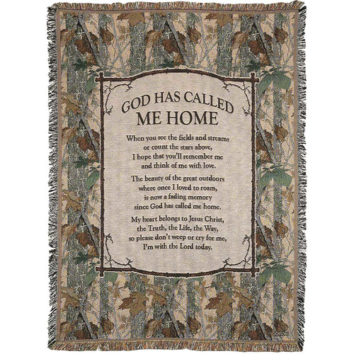 Dicksons Inc ''God Has Called Me Home'' Cotton Throw
