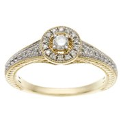 Sofia 10k Yellow Gold 1/4ct TDW Diamond Engagement Ring (I, I2) 7.5