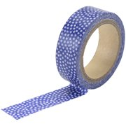 Love My Tapes Washi Tape 15mmX5m-Navy W/White Dots