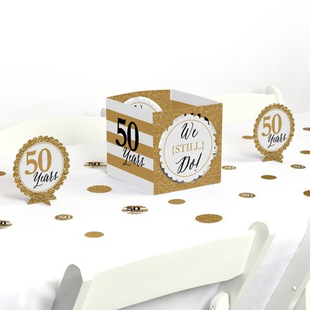 50th Wedding Anniversary Table Centerpieces (We Still Do - 50th Wedding Anniversary - Party Centerpiece & Table Decoration)
