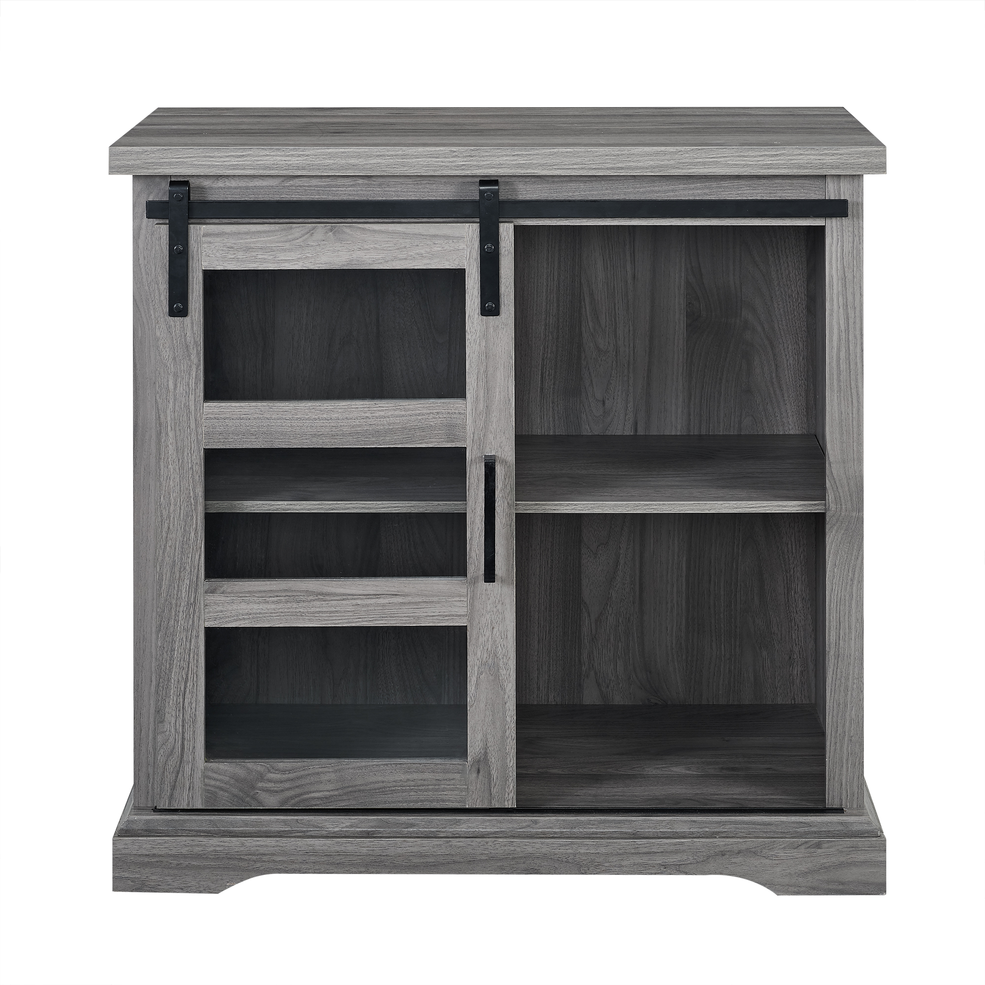 "Manor Park 32"" Sliding Glass Door Accent Console - Slate Grey"