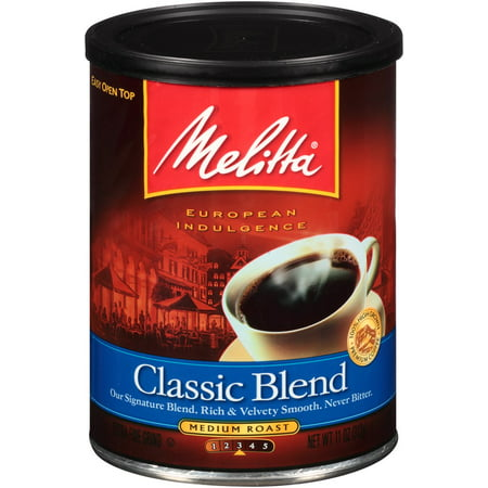 Melitta Medium Roast Ground Coffee, Classic, 11 Oz