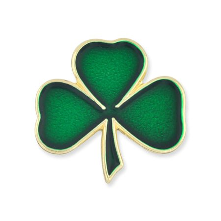 PinMart's Lucky Green Shamrock 3 Leaf Clover St. Patrick's Day Enamel Lapel Pin